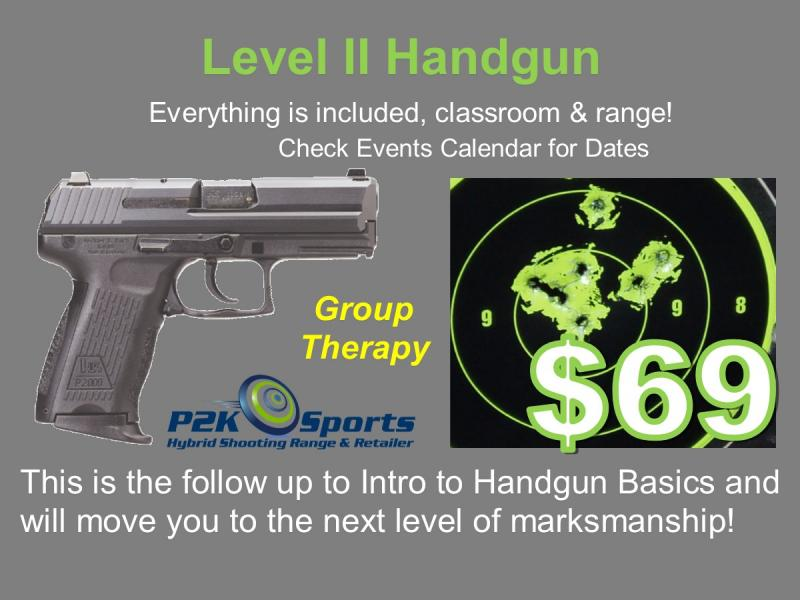 P2K's Level 2 Handgun Course